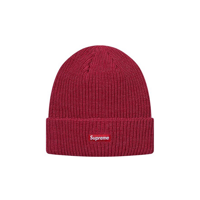 Supreme Heather Loose Gauge Beanie Heather Maroon