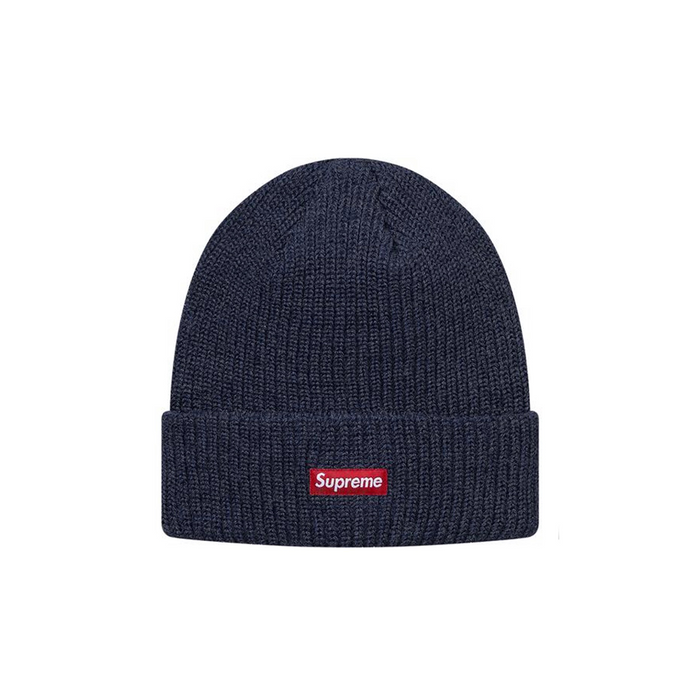 Supreme Heather Loose Gauge Beanie Heather Navy