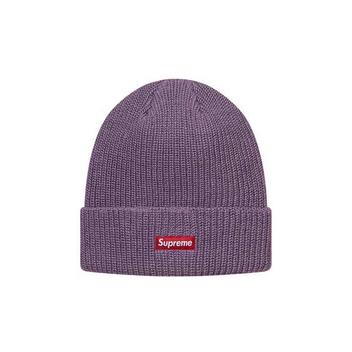 Supreme Heather Loose Gauge Beanie Heather Purple
