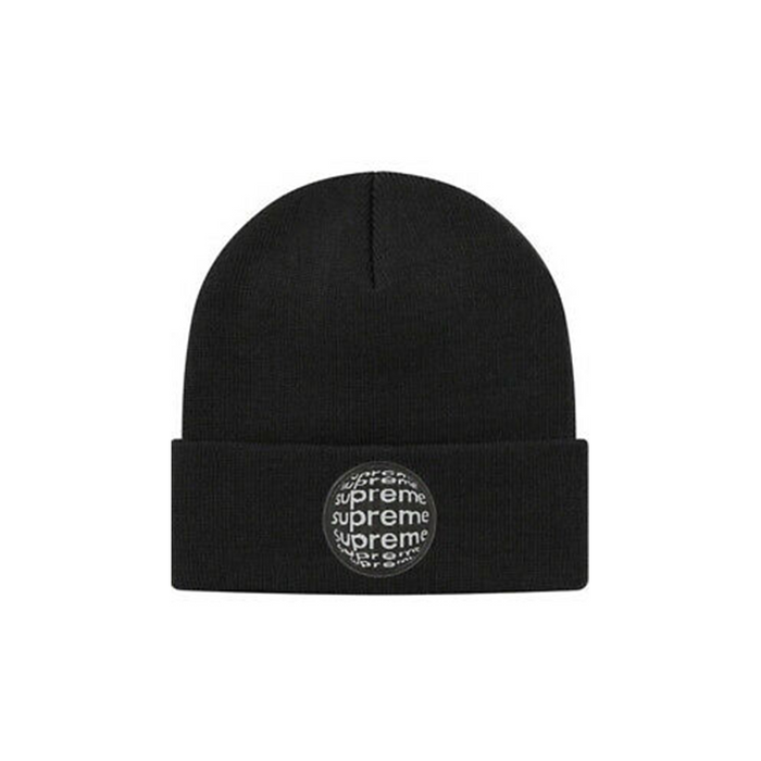 Supreme Lenticular Patch Beanie Black