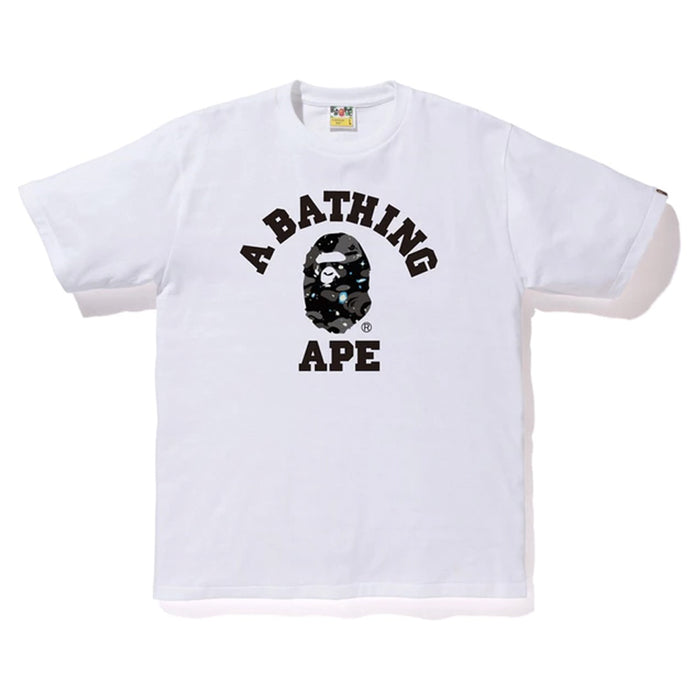 BAPE Space Camo College Tee White