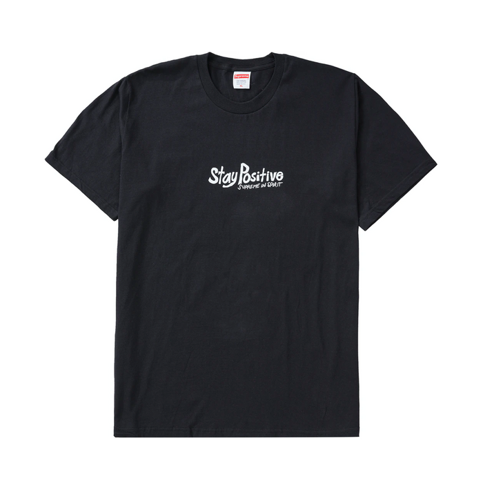 Supreme Stay Positive Tee Black