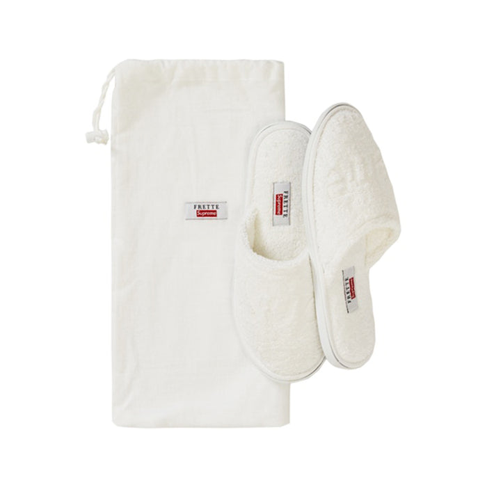 Supreme Frette Slippers White