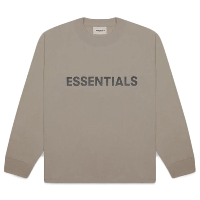 FOG ESSENTIALS 3D Silicon Applique Boxy L/S T-Shirt Taupe