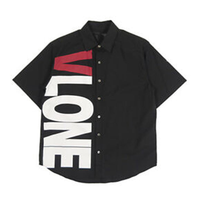 VLONE Logo Button Up Shirt Black