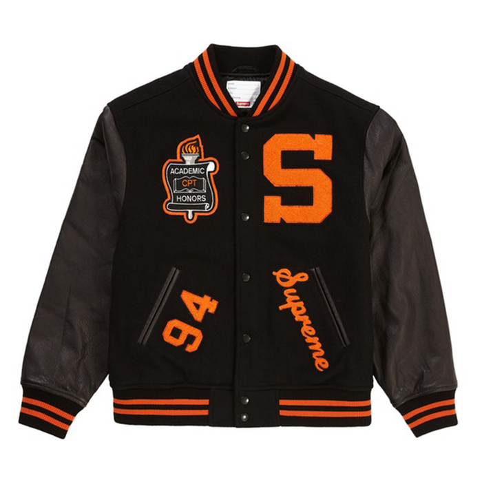 Supreme Team Varsity Jacket Black