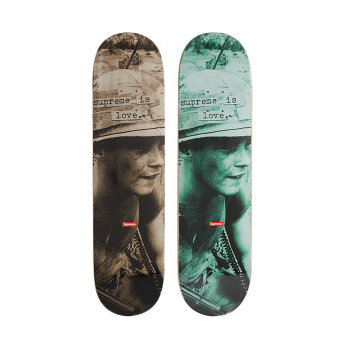 "Supreme ""Supreme Is Love"" Skateboard Deck Stone/Teal Set"