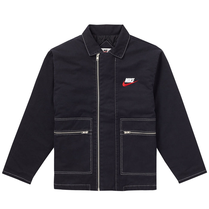 Supreme Nike Double Zip Quilted Work Jacket Black
