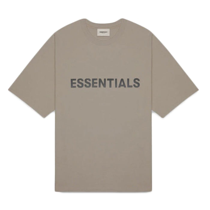 FOG ESSENTIALS 3D Silicon Applique Boxy T-Shirt Taupe