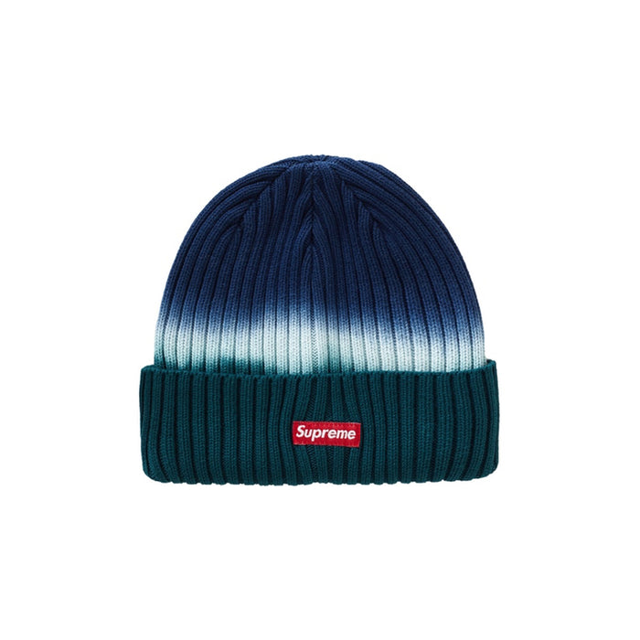 Supreme Overdyed Beanie Teal Tie Dye