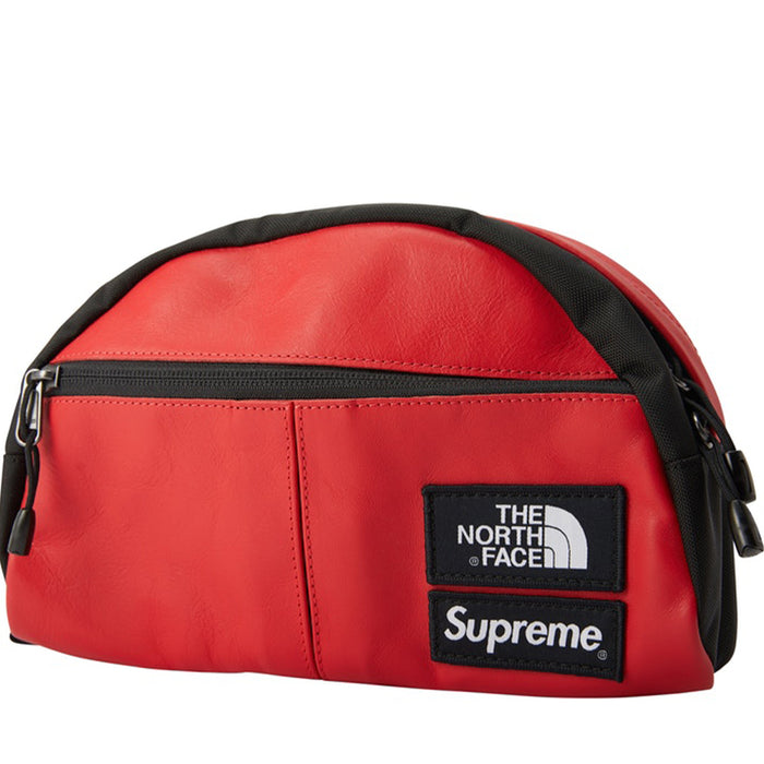 the latest 0e14c 63f7f Supreme The North Face Leather Roo II Lumbar Pack Red