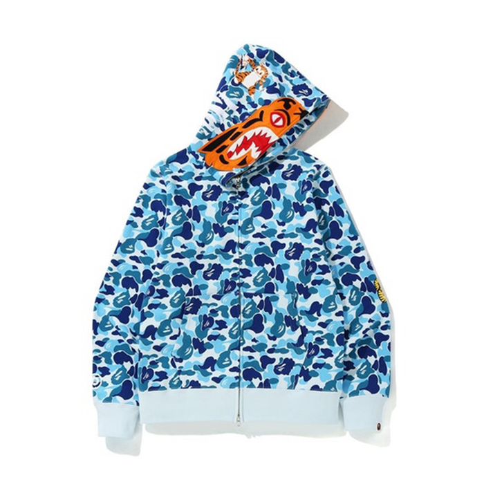 BAPE ABC Camo Tiger Full Zip Hoodie Blue