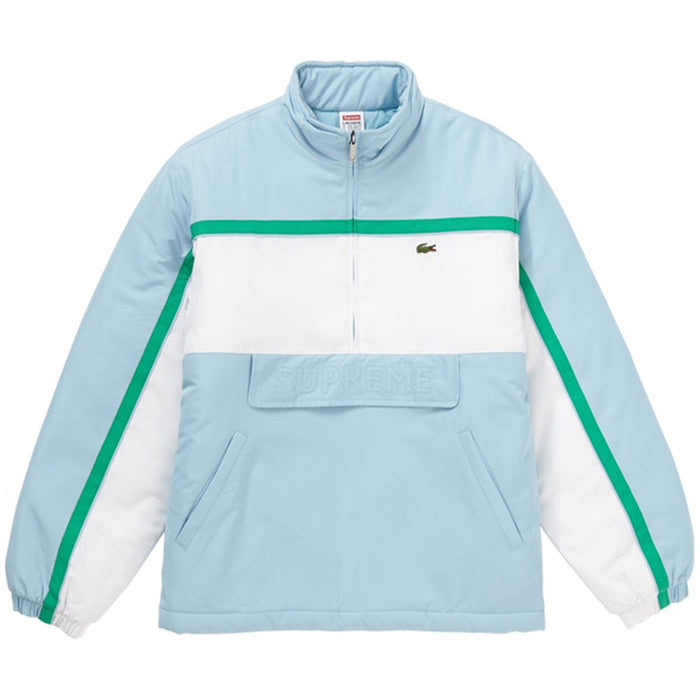 Supreme LACOSTE Puffy Half Zip Pullover Light Blue