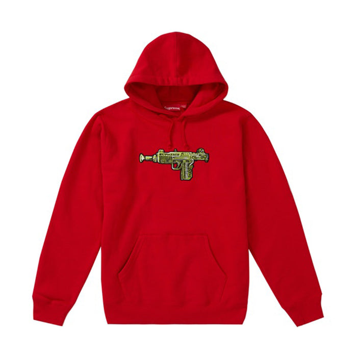 Supreme Toy Uzi Hooded Sweatshirt Red