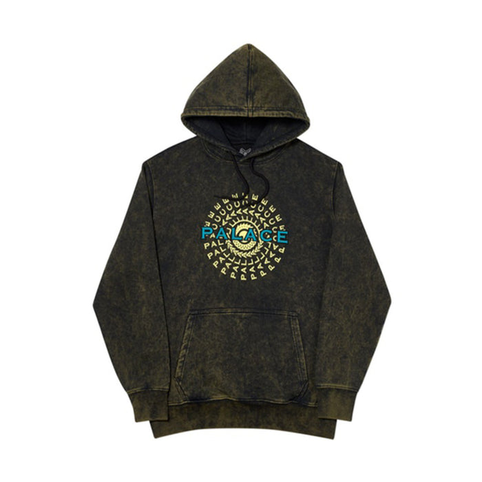 Palace Pircle Hood Black Acid Wash