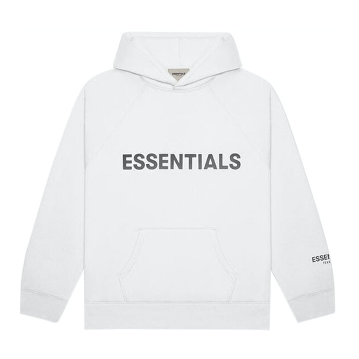 FOG ESSENTIALS APPLIQUE PULLOVER HOODIE WHITE