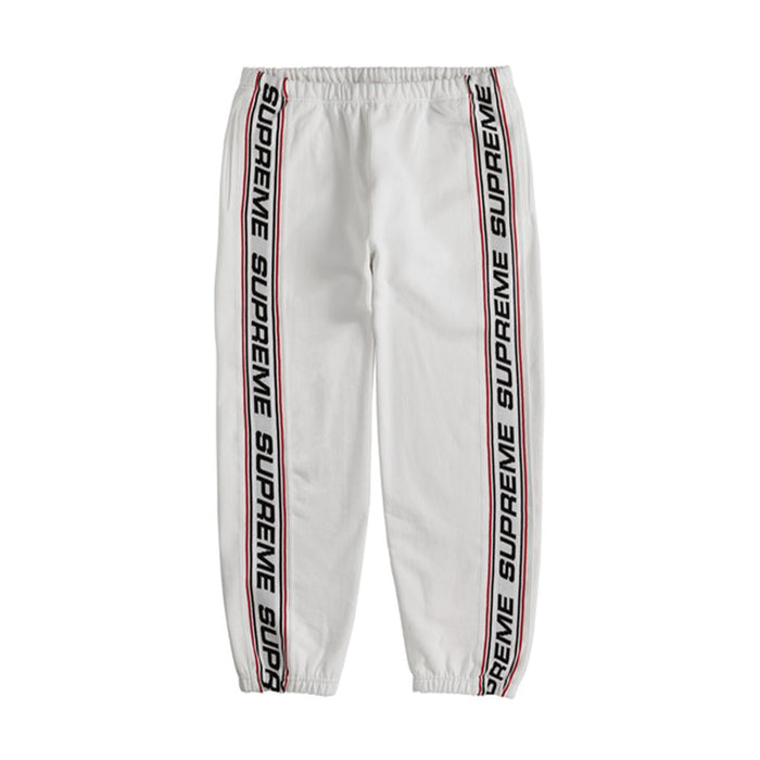 Supreme Text Rib Sweatpant White