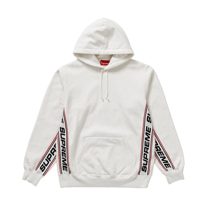 Supreme Text Rib Hooded Sweatshirt White