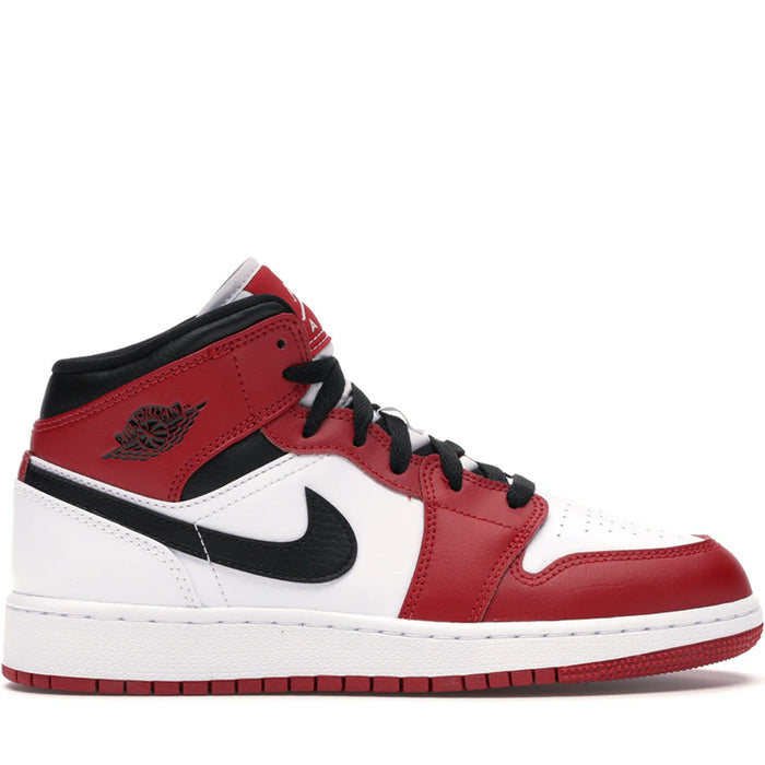 Jordan 1 Mid Chicago White Heel (GS)