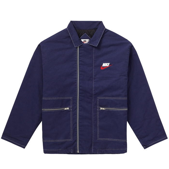 Supreme Nike Double Zip Quilted Work Jacket Navy