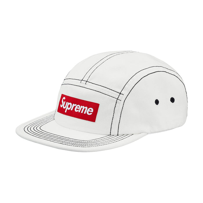 Supreme Contrast Stitch Camp Cap (SS18) White
