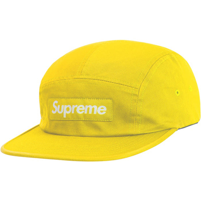 Supreme Washed Chino Twill Camp Cap (SS19) Yellow