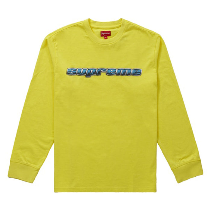 Supreme Chrome Logo L/S Top Yellow