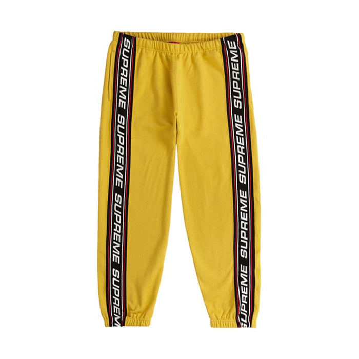 Supreme Text Rib Sweatpant Mustard