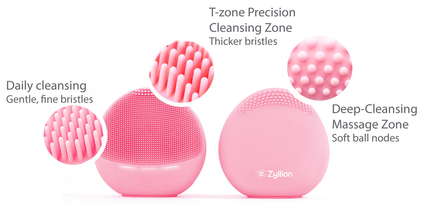 Zyllion Silicone Facial Cleansing Brush, ZBE-01-PK