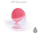 Zyllion Silicone Facial Cleansing Brush - Electric Face Scrubber Massager for Gentle Exfoliating, Deep Cleanse, Skin Care - IPX7 Waterproof and Rechargeable (Pink) …