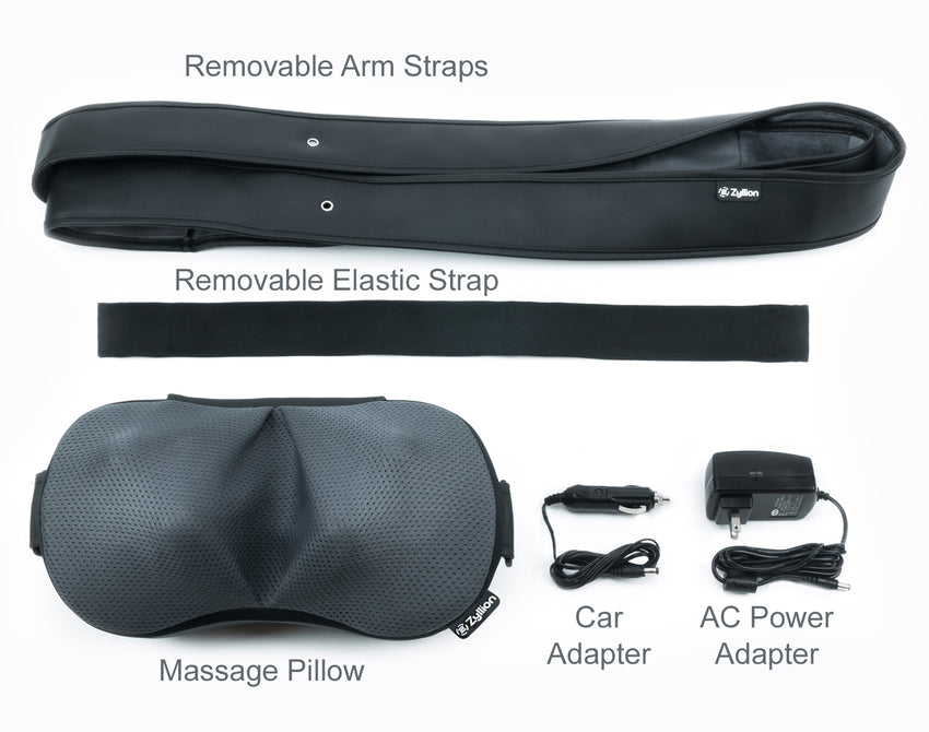 ZMA26 Convertible Shiatsu Neck Massager with Heat and Removable Straps