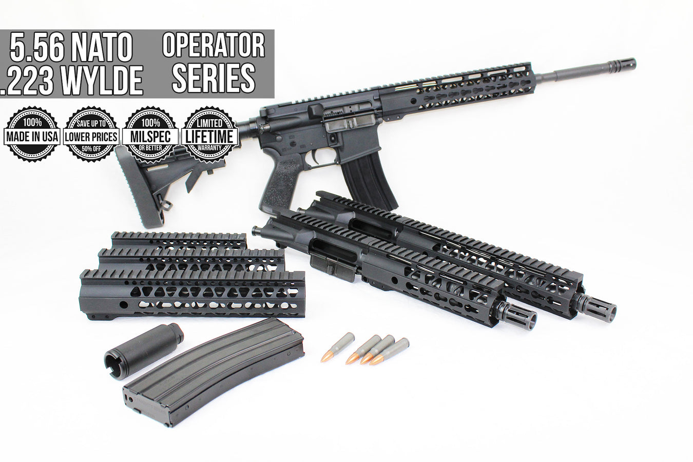 5.56/.223 Wylde 'Operator Series' Assembled Uppers