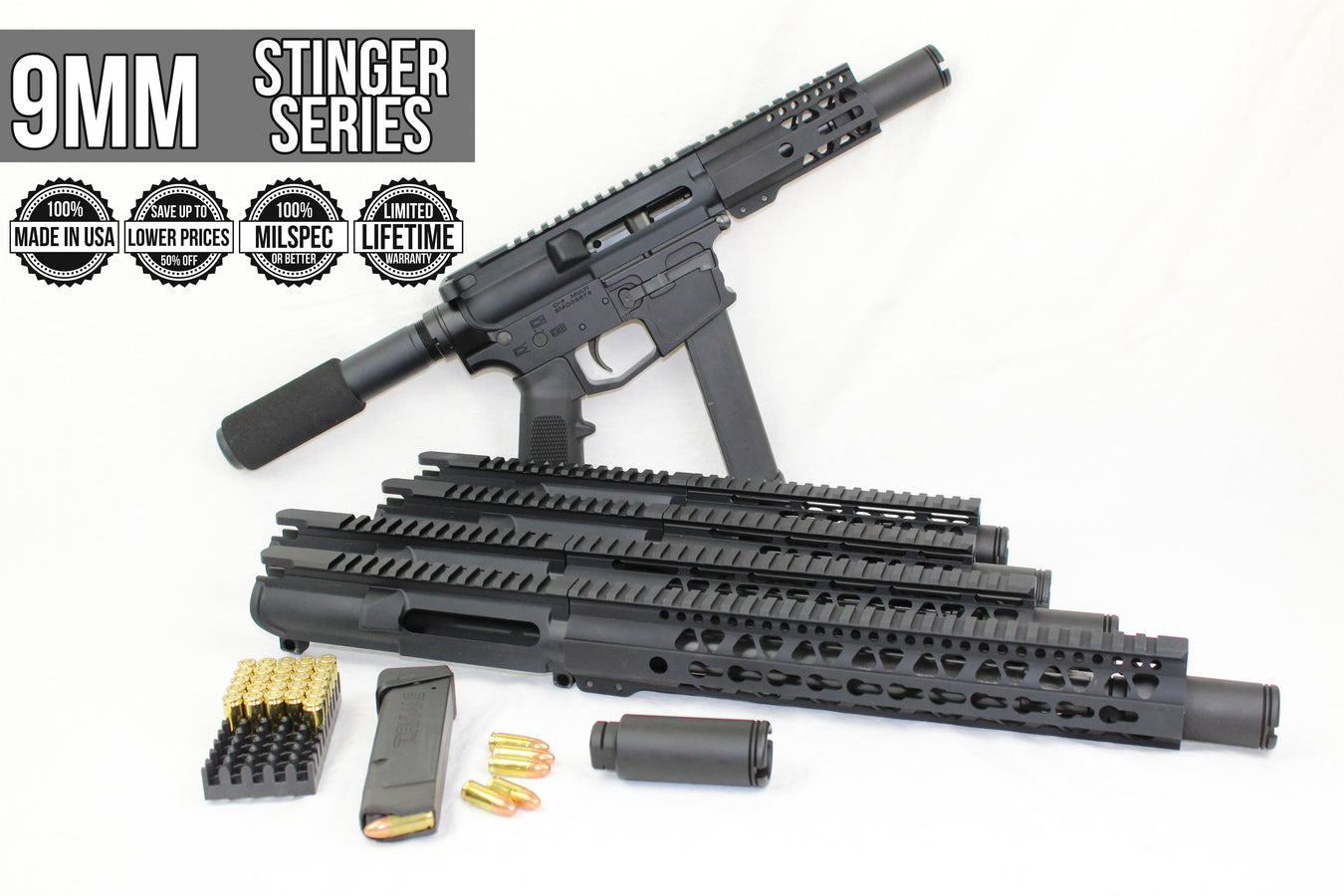 9mm 'Stinger Series' PDW Assembled Uppers