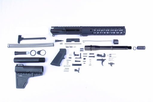 "SA8 'Venom Series' 10.5"" 1:7 Nitride Pistol Builder Kit with KAK Shockwave Blade Stock Kit 10"" KeyMod GEN2 Handguard"