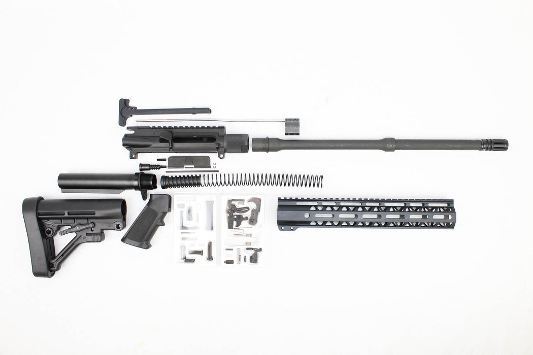 ".223 Wylde SA16 'Operator' Series 16"" 1:9 Parkerized Mid-Length Builder Kit 12"" Handguard"