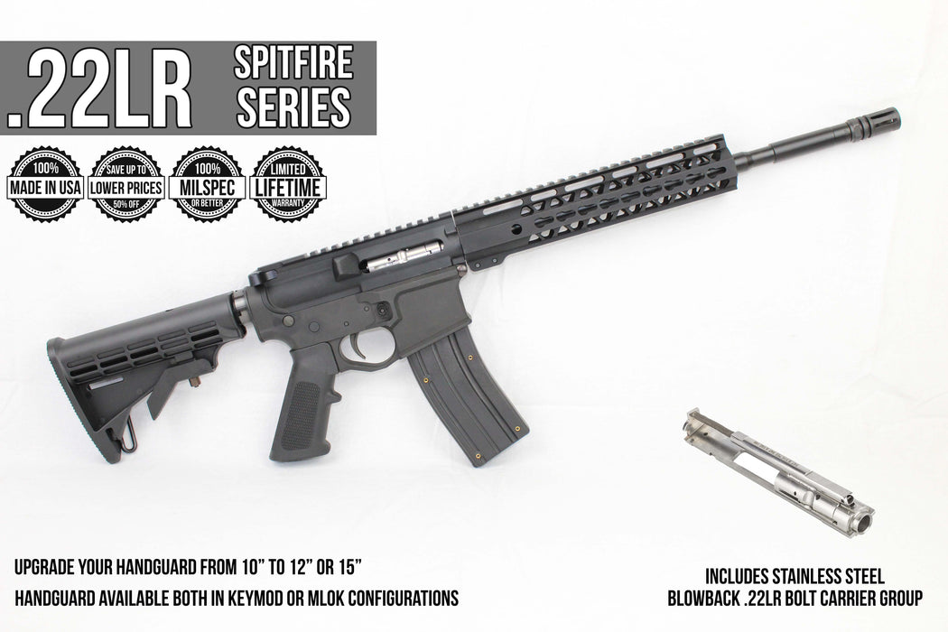 "SA22 'Spitfire' Trainer .22LR Assembled Upper Receiver | 16"" .22LR CMMG Barrel 