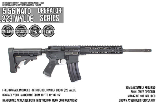 "16"" 5.56 NATO 'Operator Series' Carbine Kit 80% Optional"