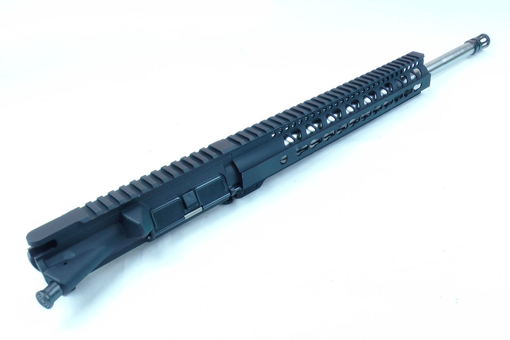 "18"" Stainless Steel AR15 5.56 Upper Receiver with 12"" Free Float KeyMod Gen2 Handguard"