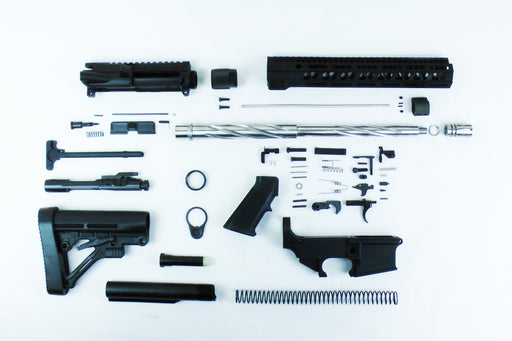 "SA16S 'Operator' Series 16"" 1:8 Stainless Steel Twisted Fluted 80% Carbine Kit with Predator Stock Kit 12"" M-LOK Handguard"