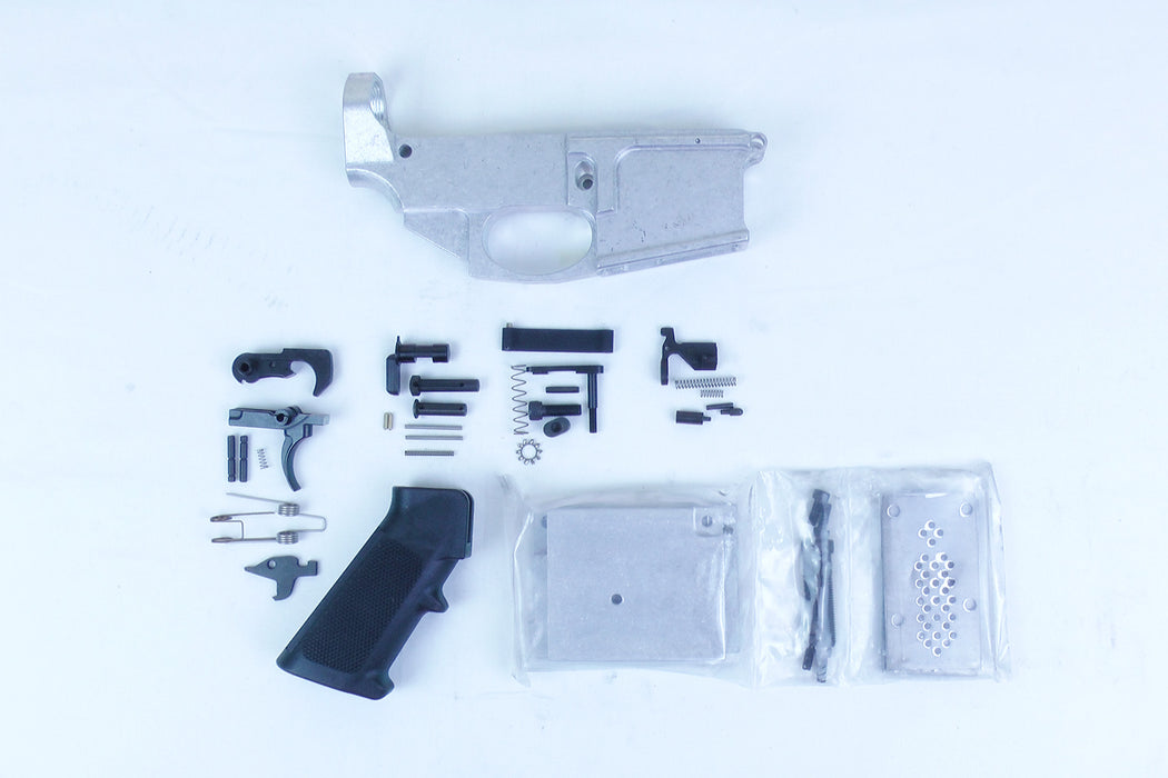 Noreen Arms AR15 80% Billet .223 Lower Receiver with Lower Parts Kit and JIG Kit