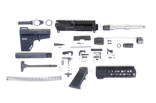 "SA8S 'Venom' Series 7.5"" 1:7 Stainless Steel Pistol Builder Kit with 7"" KeyMod GEN2 Handguard & KAK Shockwave Blade Stock Kit"