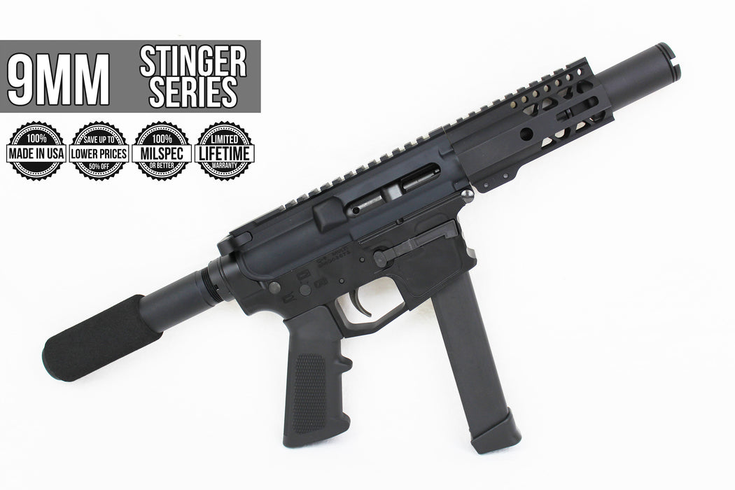 "SA9 'Stinger PDW' 9mm Assembled Upper Receiver | 3.5"" Barrel 