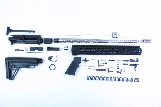 ".223 Wylde SA18S 'Hornet' Series 18"" 1:8 Stainless Steel Hornets Nest HBAR Midlength Builder Kit with Alpha Kit 15"" KeyMod GEN2 Handguard"