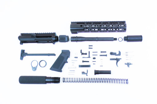 "SA9 'Stinger' Series 9mm 7.5"" 1:10 Pistol Builder Kit with 10"" M-LOK Handguard & Pistol Buffer Tube Assembly (Glock & Colt Compatible)"