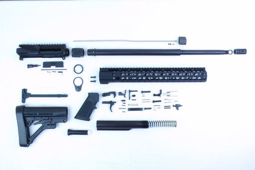 "6.5 Grendel SA16 'Grendel' Series 20"" HBAR 1:8 Nitride Rifle Builder Kit with Predator Stock Kit 15"" KeyMod Handguard"