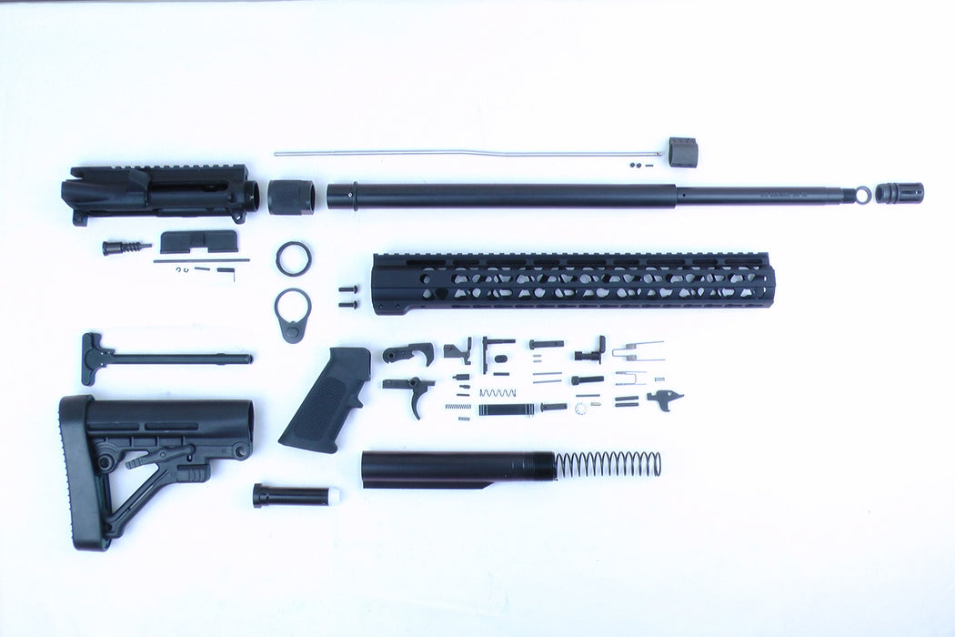 "6.5 Grendel SA16 'Grendel' Series 20"" HBAR 1:8 Nitride Carbine Builder Kit with Predator Stock Kit 15"" KeyMod Handguard"
