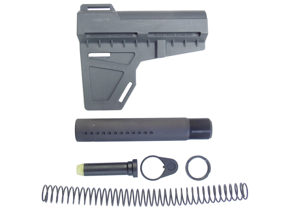KAK Industries Shockwave Blade, Stealth Grey + KAK Shockwave Tube Kit