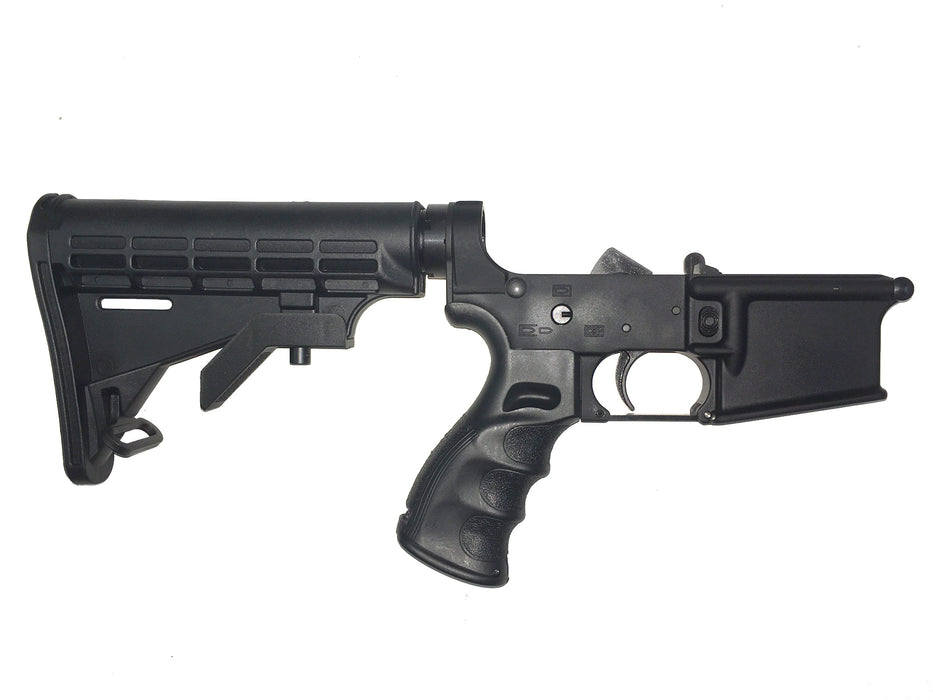 Scorpion Armaments AR-15 Complete Competition Lower Receiver Collapsible 6 Position Stock