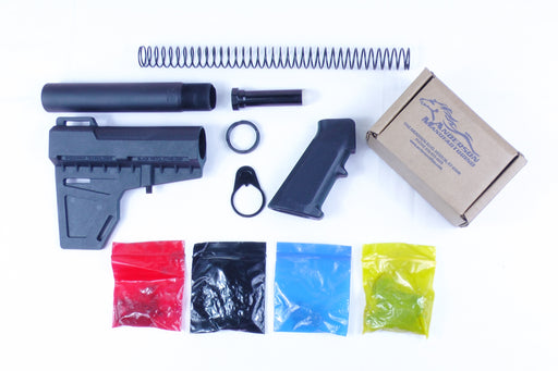 KAK Shockwave Blade Pistol Lower Build Kit with Anderson Manufacturing Lower Parts Kit - .223/5.56 Black Trigger and Hammer