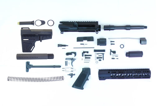 "SA8 'Venom' Series 7.5"" 1:7 Pistol Builder Kit with 10"" MLOK Handguard & KAK Shockwave Blade Stock Kit & Zaviar Flash Can"